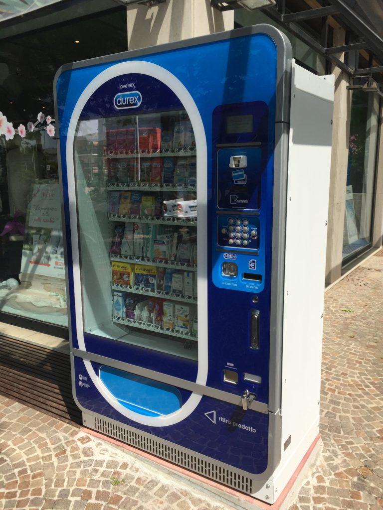 Distribuzione automatica preservativi e dispositivi medici h24